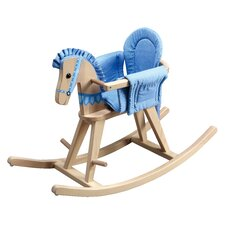 Fantasy Fields - Safari Natural Rocking Horse w/Blue Pad