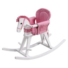 Fantasy Fields - Safari White Rocking Horse w/Pink Pad