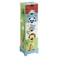 <strong>Teamson Kids</strong> Sunny Safari 5-Drawer Cabinet