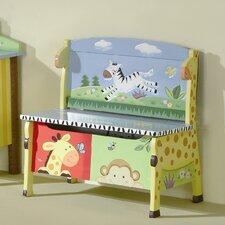 <strong>Teamson Kids</strong> Sunny Safari Kid's Storage Bench