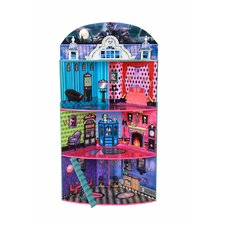 Monster Mansion Corner Doll House with Furniture