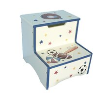 <strong>Teamson Kids</strong> Sports Room Boys Step Stool with Storage