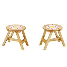 <strong>Teamson Kids</strong> Magic Garden Outdoor Kids Stools (Set of 2)