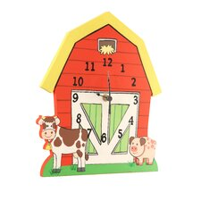 <strong>Teamson Kids</strong> Happy Farm Room Wall Clock