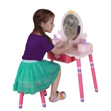 <strong>Teamson Kids</strong> Princess Children Vanity Set (Set of 2)