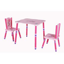 Princess Children Table and Chair Set (Set of 3)