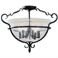 Manor House 6 Light Semi Flush Mount