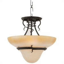 <strong>Sea Gull Lighting</strong> Saranac Lake 3 Light Convertible Inverted Pendant