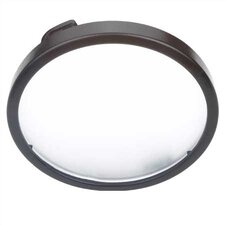 <strong>Sea Gull Lighting</strong> LX Linear Track Lighting Disk Light with Etched Glass