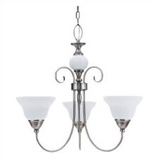 <strong>Sea Gull Lighting</strong> Montclaire 3 Light Chandelier