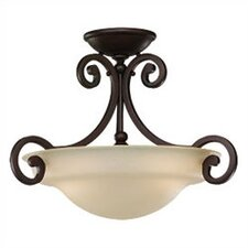 <strong>Sea Gull Lighting</strong> Acadia 2 Light Semi Flush Mount