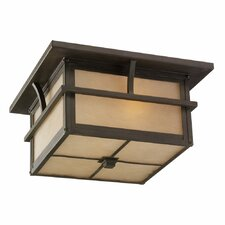 <strong>Sea Gull Lighting</strong> Medford Lakes 2 Light Outdoor Flush Mount