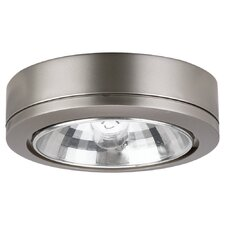 <strong>Sea Gull Lighting</strong> Ambiance Accent Disk Light with Housing in Brushed Nickel