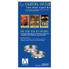 Ambiance Disk Light Kit with Housing in Brushed Nickel