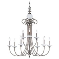<strong>Sea Gull Lighting</strong> Montclaire 9 Light Chandelier