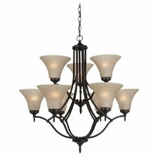 <strong>Sea Gull Lighting</strong> Montreal 9 Light Chandelier