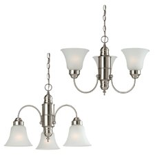 <strong>Sea Gull Lighting</strong> Linwood 3 Light Chandelier