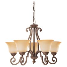 <strong>Sea Gull Lighting</strong> Brandywine 5 Light Chandelier
