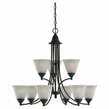 <strong>Sea Gull Lighting</strong> Albany 9 Light Chandelier