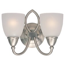 <strong>Sea Gull Lighting</strong> Pemberton 2 Light Vanity Light