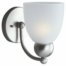 Metropolis 1 Light Vanity Wall Sconce with Glass Shade