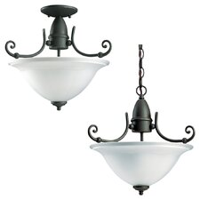 Canterbury 3 Light Semi Flush Mount
