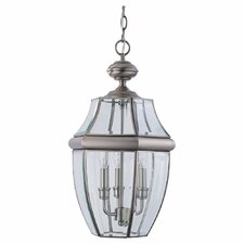 Sea Gull Lighting 3 Light Outdoor Pendant
