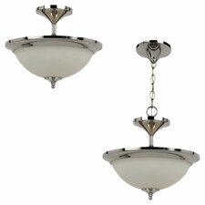 <strong>Sea Gull Lighting</strong> Solana 2 Light Semi Flush Mount