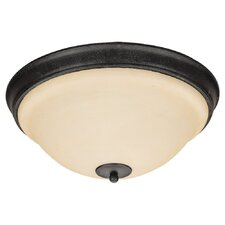 <strong>Sea Gull Lighting</strong> Serenity 3 Light Flush Mount