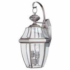 <strong>Sea Gull Lighting</strong> Classic 2 Light Outdoor Wall Lantern
