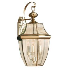 Classic 3 Light Outdoor Wall Lantern