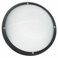 <strong>Sea Gull Lighting</strong> Bayside 1 Light Outdoor Flush Mount
