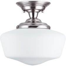 Academy 1 Light Semi-Flush Mount