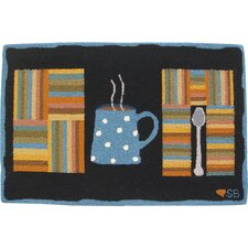 <strong>Susan Branch Home</strong> Cuppa Joe: 2' x 3' -  Black Rug