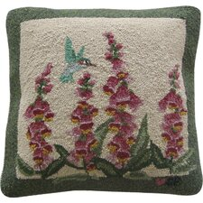 Hummingbird Garden Square Pillow