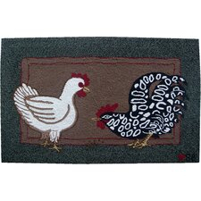 Fly the Coop: 2' x 3' - Green Rug