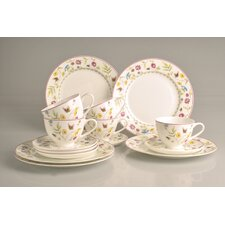 "18-tlg. Kaffee-Set ""Butterfly"" aus Bone-China-Porzellan"
