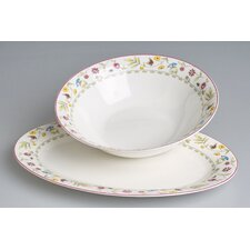 "2-tlg. Servier Set ""Butterfly"" aus Bone China-Porzellan"