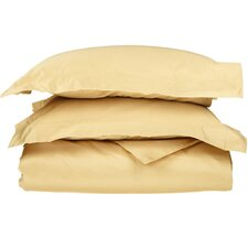 1000 Thread Count Egyptian Cotton 3 Piece Solid Duvet Cover Set