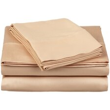 <strong>Simple Luxury</strong> 300 Thread Count Egyptian Cotton Solid Sheet Set
