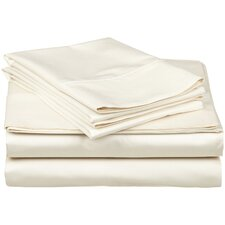 300 Thread Count Egyptian Cotton Solid Queen Waterbed Sheet Set