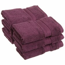 Superior 900 GSM Egyptian Cotton 6-Piece Face Towel Set