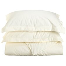 600 Thread Count Cotton Rich Solid Duvet Cover Set
