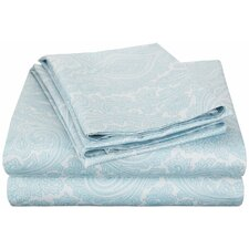 Impressions Italian Paisley 600 Thread Count Wrinkle Resistant Cotton Blend Sheet Set