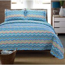 Zig Zag 100 Cotton 3 Piece Quilt Set