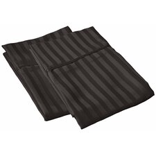 Vanessa Collection Microfiber Stripe Pillowcase Pair (Set of 2)
