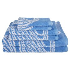 Superior Paisley 100% Cotton 6 Piece Towel Set