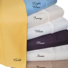 Cotton Rich 1000 Thread Count Olympic Queen Solid Sheet Set