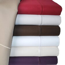 Cotton 1500 Thread Count Solid Pillowcase PairSet of 2)