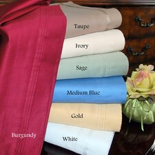 1000 Thread Count Egyptian Cotton Solid Waterbed Sheet Set